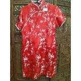 Vestido Chines Vermelho Curto Novo