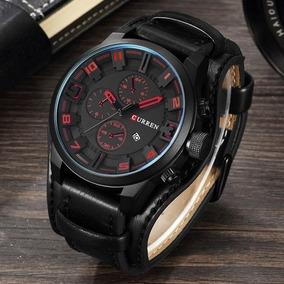 Reloj Curren Cuero Vinil Moto Clasico Caballero Hombre Envio