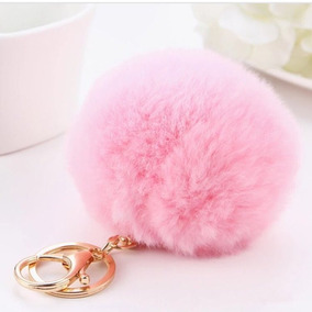 Chaveiro Pompom Super Fofo Fashion Rosa