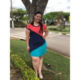 Blusa Tricolor Plus Size no Mercado Livre Brasil 9536bed11e4