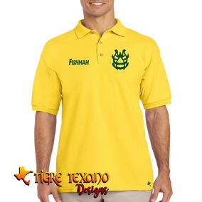 b393bbe85843c Playera Polo Lucha Libre Fishman By Tigre Texano Designs