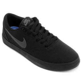 Tênis Nike Sb Check Solar Cnvs Preto Masculino - Original