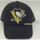 Boné Pittsburgh Penguins Hóquei Hockey Trucker Pronta Entreg de74276dda2