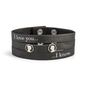 Star Wars I Love You I Know Pulsera Brazalete De Piel
