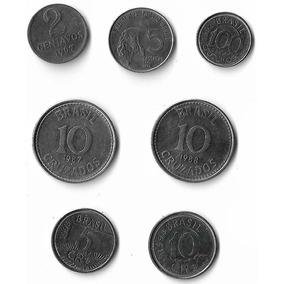 Moedas Antigas Brasil Numismática: 7 Moedas De Aço