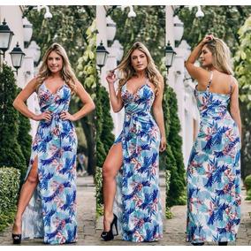 fd752b1f50 Vestido Longo Aberto Na Perna - Vestidos Casuais Longos Femininas no  Mercado Livre Brasil