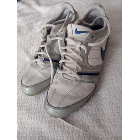 Tenis Nike Dama Vintage Retro Número 4 Color Plata Casuales a60a7ae4877