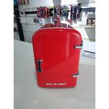 Mini Geladeira Retro Vermelha Trivolt 4l (12v/127v/220v)