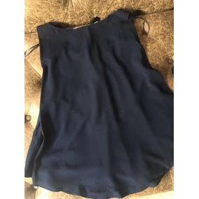 Blusa De Vestir Zara Azul Talla 28 852b33246db7