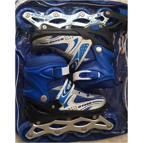 Patines Ajustable Con Kit En Azul