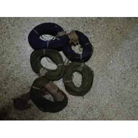 4 Rollo De Cable Antiguo De Tela Y Goma Ideal Veladores
