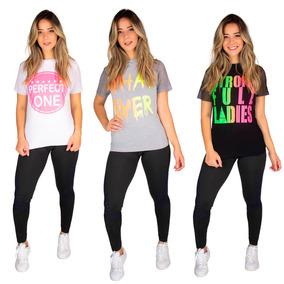 Kit 4 Camisa Manga Curta Feminina Roupas Moda T Shirt 9650
