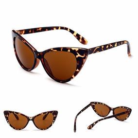 0cb6ec0757995 Óculos De Sol Gatinho Cat Eye Retrô Marrom Bicolor Pin Up - Óculos ...
