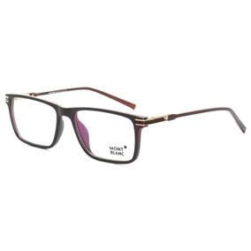 2167eadca7dd7 Armacao Mont Blanc Mb 168 Marrom - Óculos no Mercado Livre Brasil
