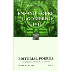 Ensayo Sobre El Gobierno Civil Sc 6 Locke John