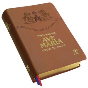 Livro Bíblia Ave-maria - Edição De Estudos