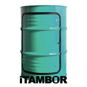 Tambor Decorativo Com Porta - Receba Em Quatro Pontes