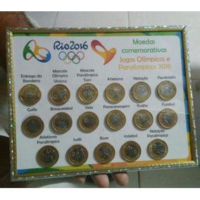 Coleção Das Moedas Da Olimpíadas Com Moeda Da Bandeira