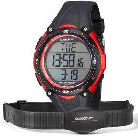 Monitor Cardíaco Speedo 80565g0epnp1 Preto Com Relógio