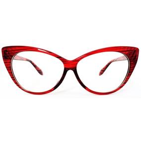 7dd272ee6c1f1 Oculos De Grau Feminino Gatinho Retro Vermelho - Óculos no Mercado ...