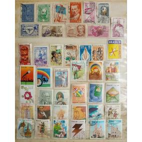 Conjuntos 3 -selos Brasil Anos 80/90 E Antigos