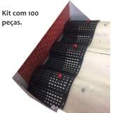Protetor De Calhas Brasilit Aluzinco Eternit (kit 100 Peças)