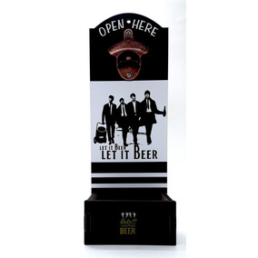 Abridor Garrafas Beatles Com Caixa P/ Tampinhas Divertido
