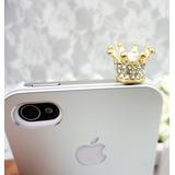 20 Pingentes Coroa Dourada Lembrancinha iPhone Apple Samsung