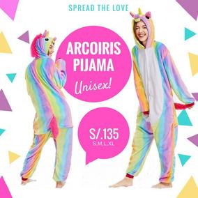 Pijama De Unicornio Unisex Arcoiris Tallas S,m,l,xl En Stock