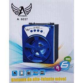 Caixa Caixinha Som Amplificada Bluetooth Mp3 Usb Cartão