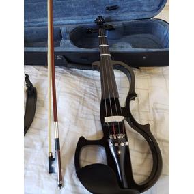 Violin Electrico Negro Cecilio + Soporte + Cable - Eeuu