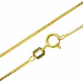 Corrente Em Ouro 18k Veneziana 50cm