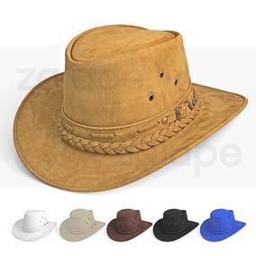 Chapeu Country Masculino Couro De Cowboy Australiano Preto dd897b41061