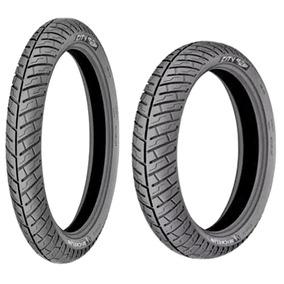 Pneu 3.50-16 +80/100-18 Michelin Uso Sem Camara!!!!!