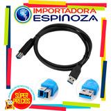 Cable De Impresora Usb 3.0 2mts Macho A Tipo B Impresoras