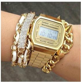 43a8e52c836 Relogio Feminino Digital Dourado Cassio - Relógios De Pulso no ...