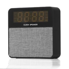 Rádio Relógio Digital Despertador Bluetooth Fm Alarme Sd 24h