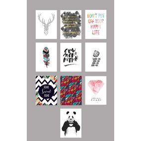 Kit 10 Posters A4 Variados Decor Casa