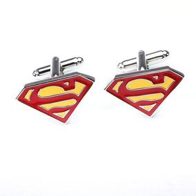 Mancuernillas Superman Color Gemelos Comic Dc Camisa Boda