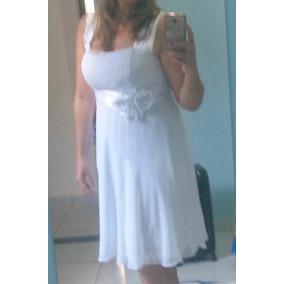 Maravilhoso Vestido Noiva Civil Branco