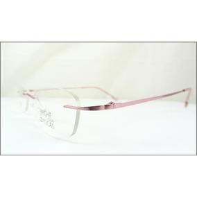 1a49eb080790e Armação Discreta Rosa Invisível Óculos Grau Titanium A540 · R  69 99