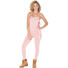 Sexy Jumpsuit Enterizo Escote Detalle Lateral Yoga 64018