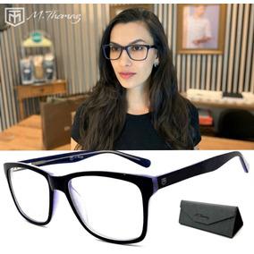 Armacao Oculos Feminino Azul Marinho - Óculos no Mercado Livre Brasil b988866ec1