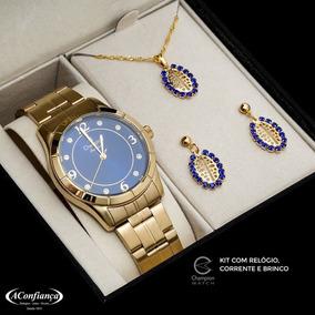 1cc4a679ac4 Kit Corrente Brinco Champion - Relógios De Pulso no Mercado Livre Brasil