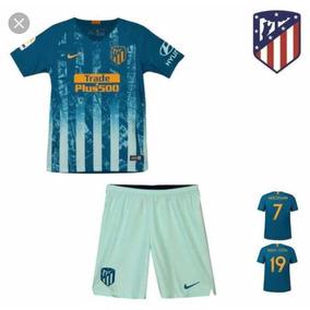 Conjunto Infantil Atlético Madrid 2019 +meião- Personalizado · 3 cores 9fd173948e588