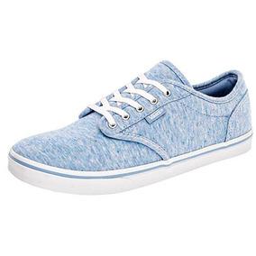 Bonitos Y Cómodos Tenis Casuales Vans Originales Color Azul