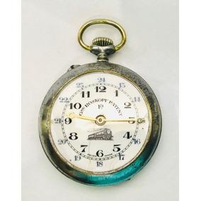 28294963a69 Raríssimo Relógio De Bolso Roskopf Patent Ferroviário Sec 19