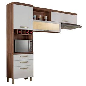 Cozinha Compacta Nesher Condessa 2 Peças Nogal/branco