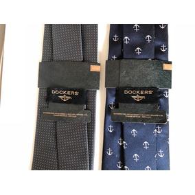 2 Corbatas Dockers Originales Nuevas Azul Gris