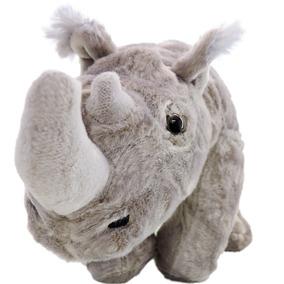 Pelúcia Rinoceronte Safári Cinza De 37 Cm Comprimento Barato